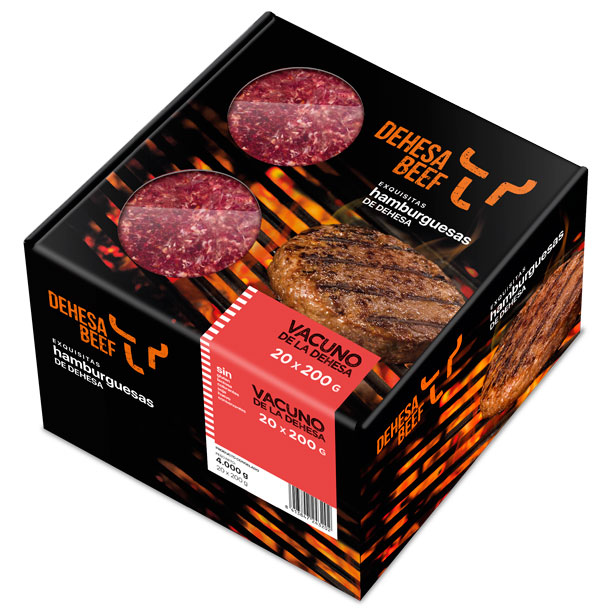 Estuche hamburguesas congeladas Dehesa Beef